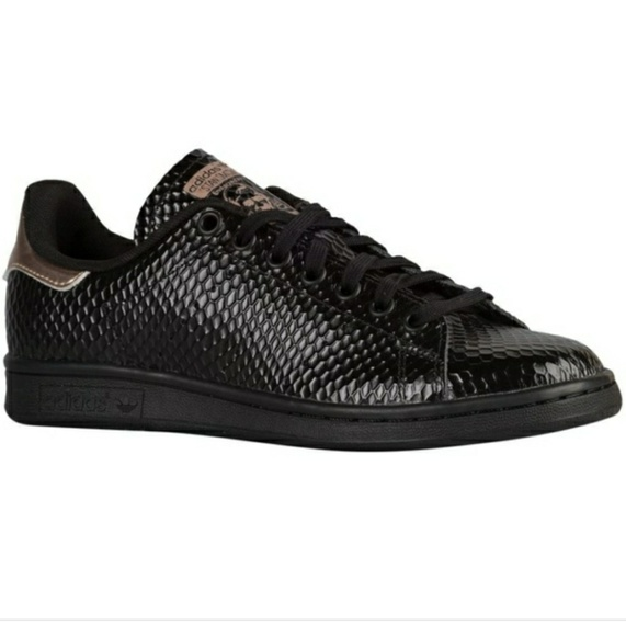 adidas Shoes - Womens Adidas Stan Smith W - AQ5939 - Black Gold ffb808f53